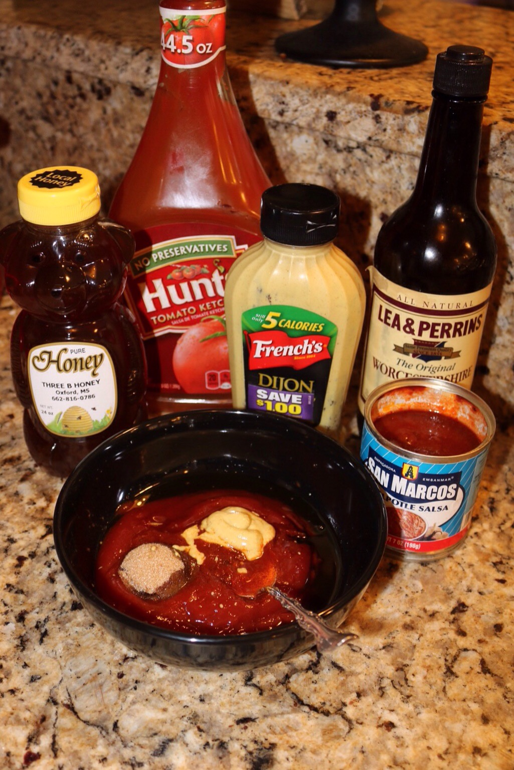 ingredients ketchup dijon honey